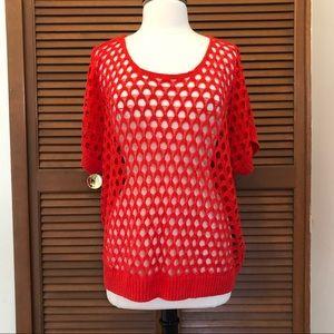 Torrid short sleeve distressed sweater 2X
